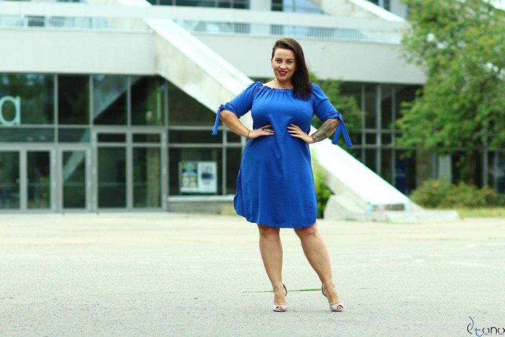 Chabrowa Sukienka VALENCIA Hiszpanka Plus Size