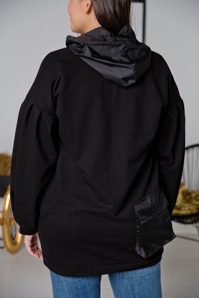 Czarna Bluza DAREA Plus Size