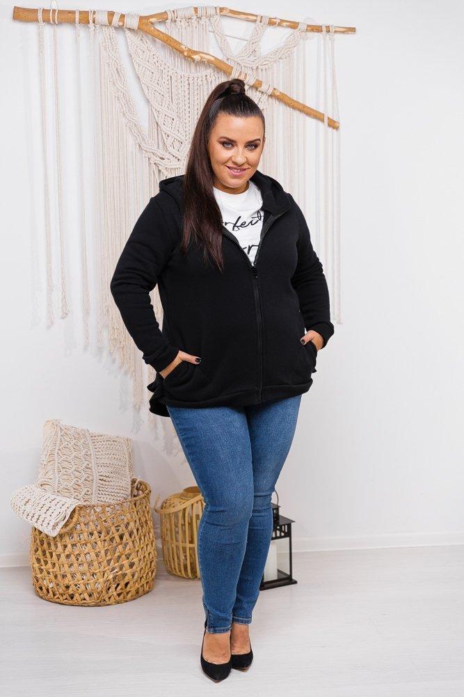 Czarna Bluza LABONDA Plus Size