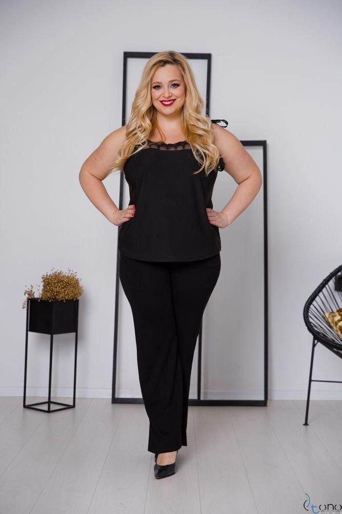 Czarna Bluzka BEVIA Plus Size