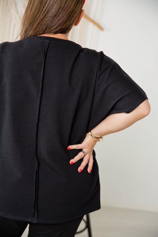 Czarna Bluzka BLINK Plus Size Wzór 2