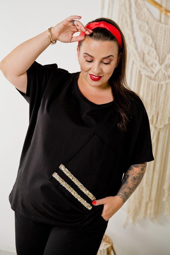 Czarna Bluzka BLINK Plus Size Wzór 4