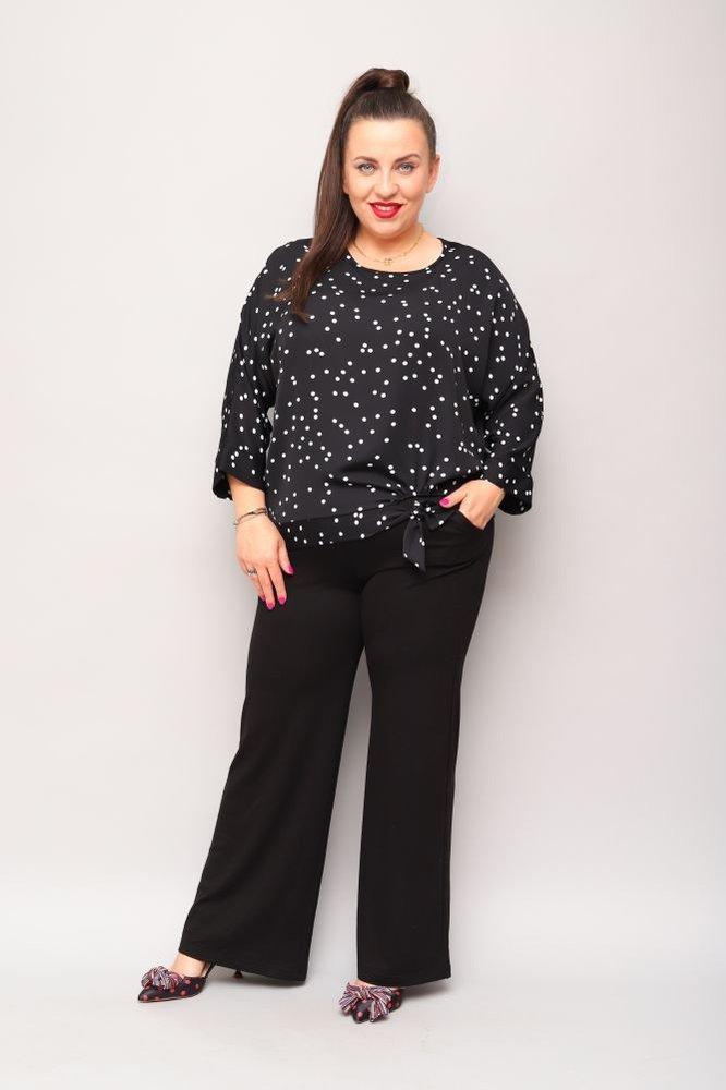 Czarna Bluzka PANEA Plus Size