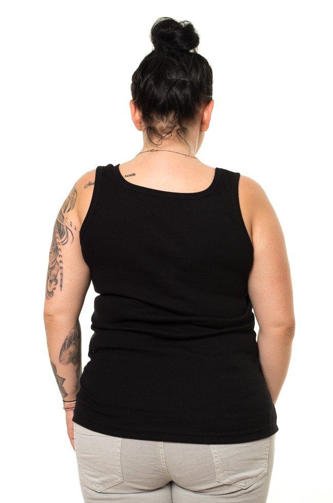 Czarna Bluzka damska B38 Plus Size