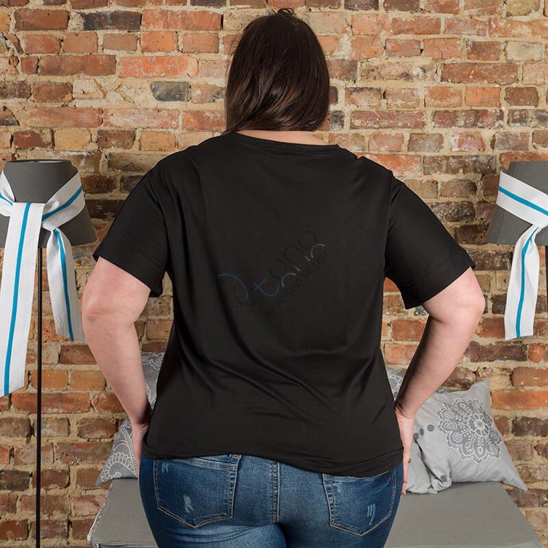 Czarna Bluzka damska TODAY Size Plus T-shirt