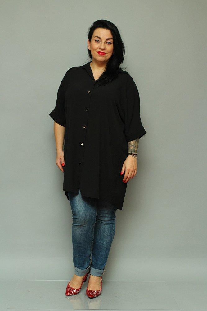 Czarna Koszula MOLTA Oversize Wygodna