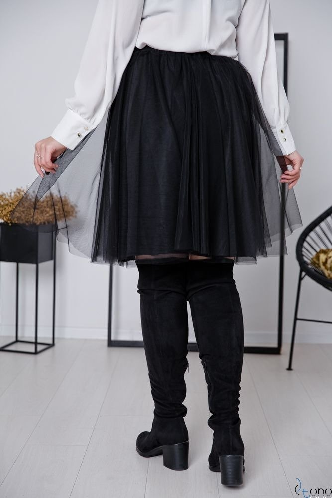 Czarna Spódnica FERRY Plus Size