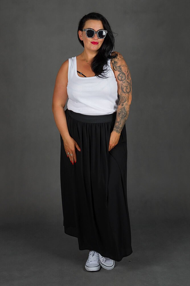 Czarna Spódnica SUSANNA Maxi Plus Size