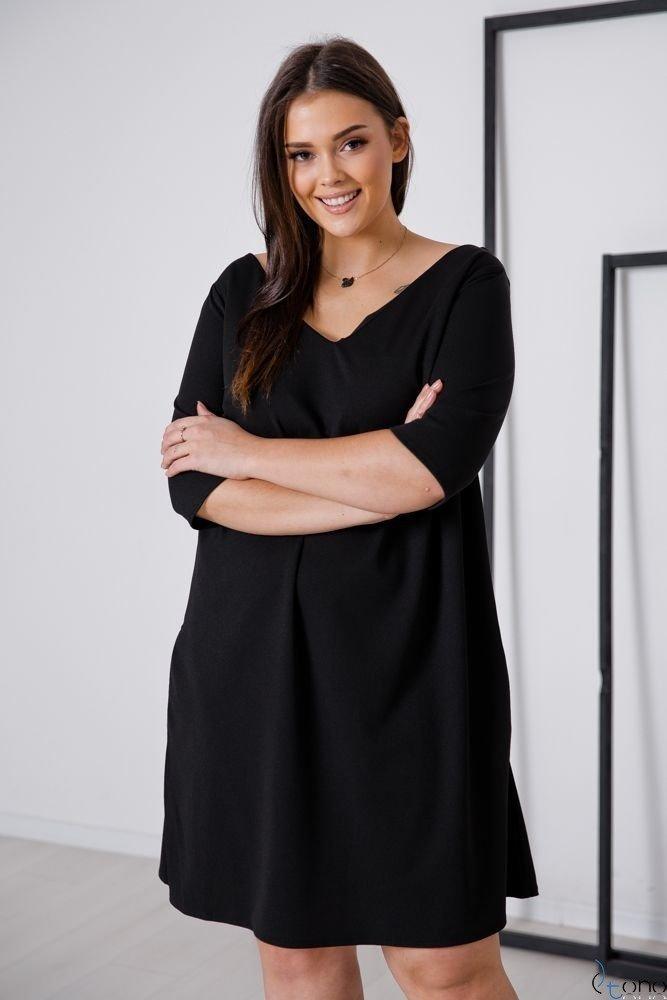 Czarna Sukienka AFETIA Plus Size
