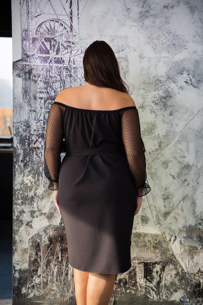 Czarna Sukienka CATYS Plus Size wzór 3