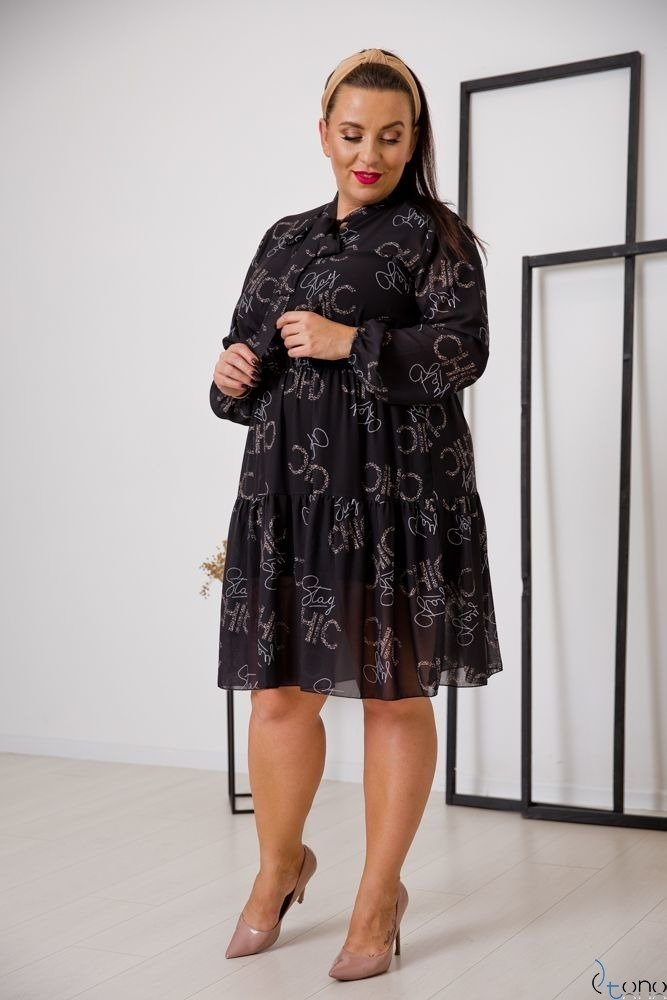Czarna Sukienka CAVILLA Plus Size