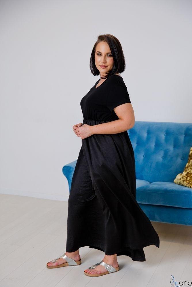 Czarna Sukienka  FASIONA Plus Size