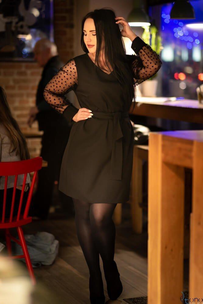 Czarna Sukienka FELEDA Plus Size