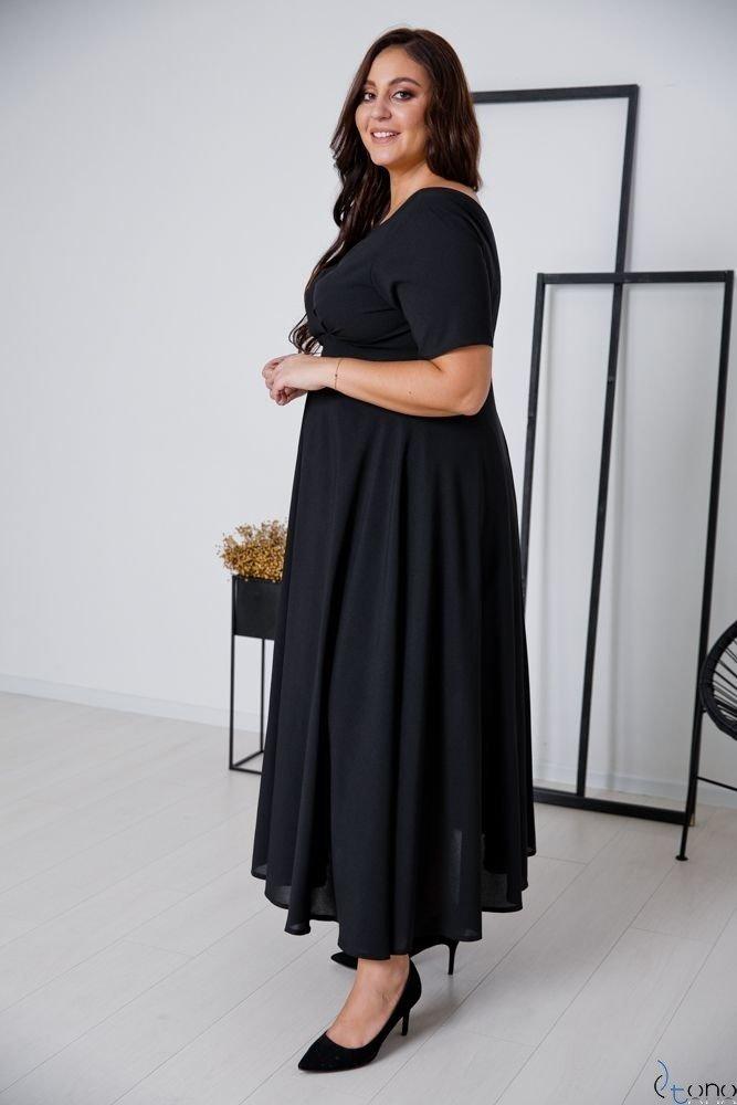 Czarna Sukienka MIRIAM Plus Size