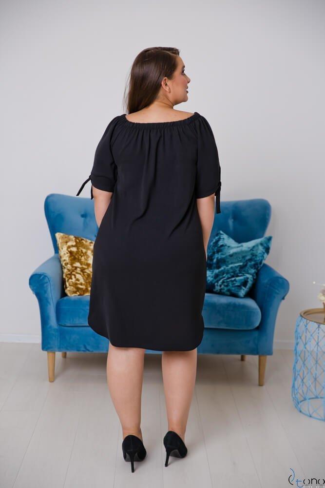 Czarna Sukienka NEFRITTA Plus Size