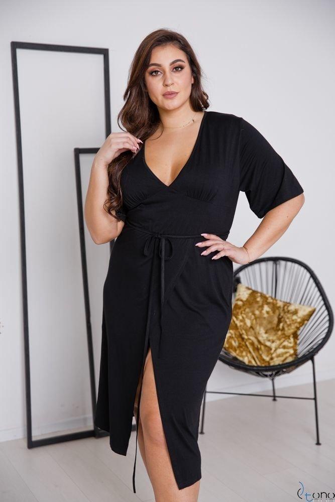 Czarna Sukienka NICEA Plus Size
