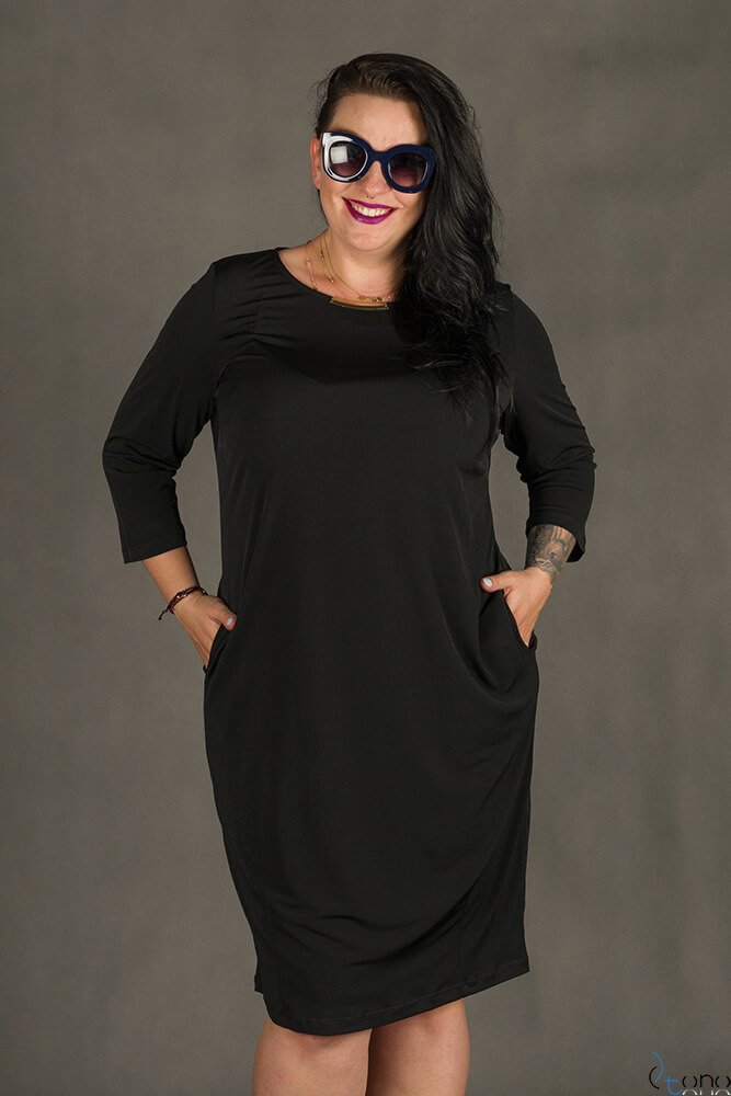 Czarna Sukienka RAISA Plus Size