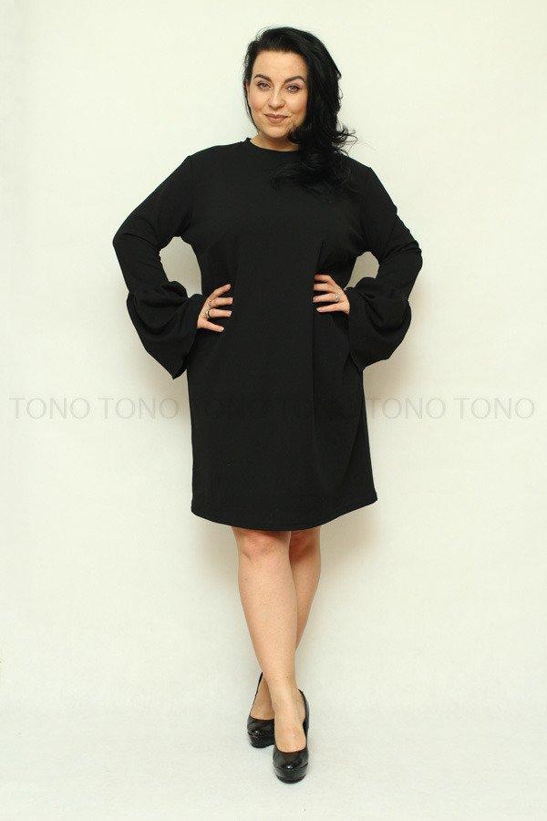 Czarna Sukienka TAMPA Plus Size
