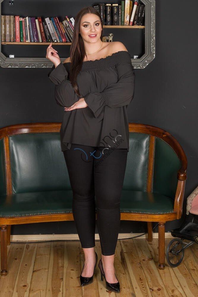 Czarna bluzka damska GRANADA hiszpanka