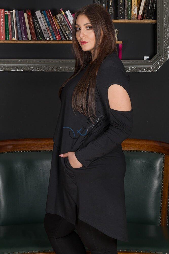 Czarna tunika damska WENDY Size Plus
