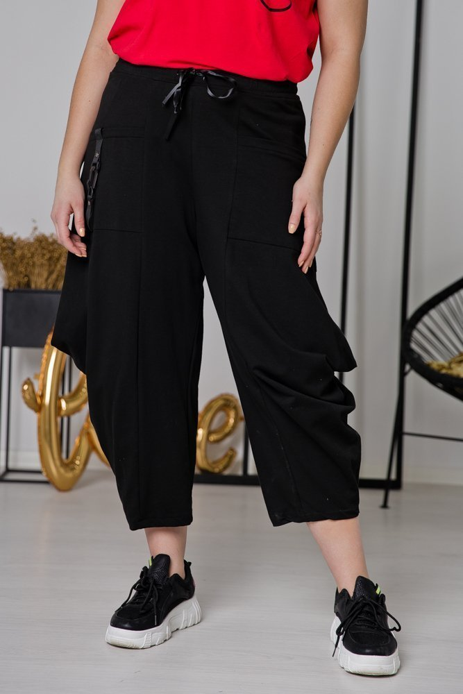 Czarne Spodnie MORESA Plus Size