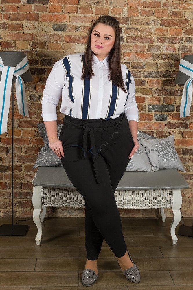 Czarne spodnie damskie SALMA Plus Size modne