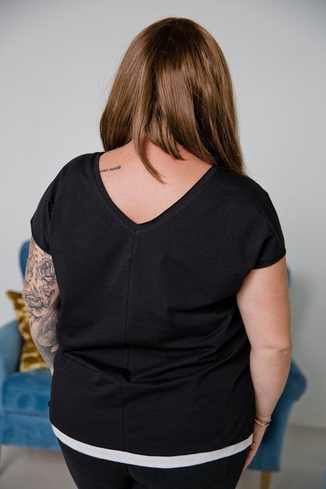Czarno-biała Bluzka TIARA Plus Size