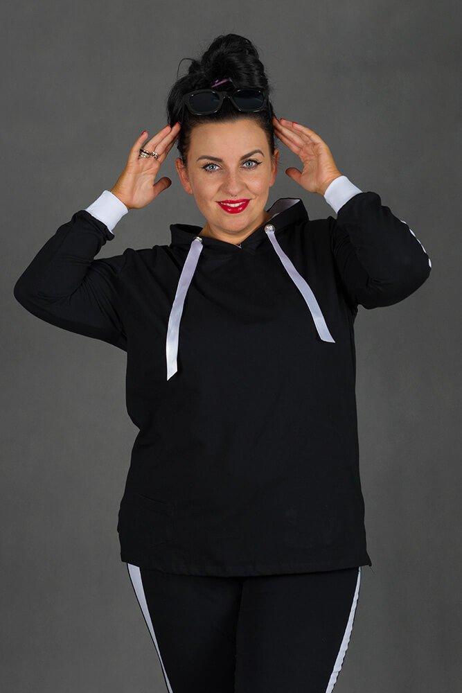 Czarny Dres MONACO Plus Size