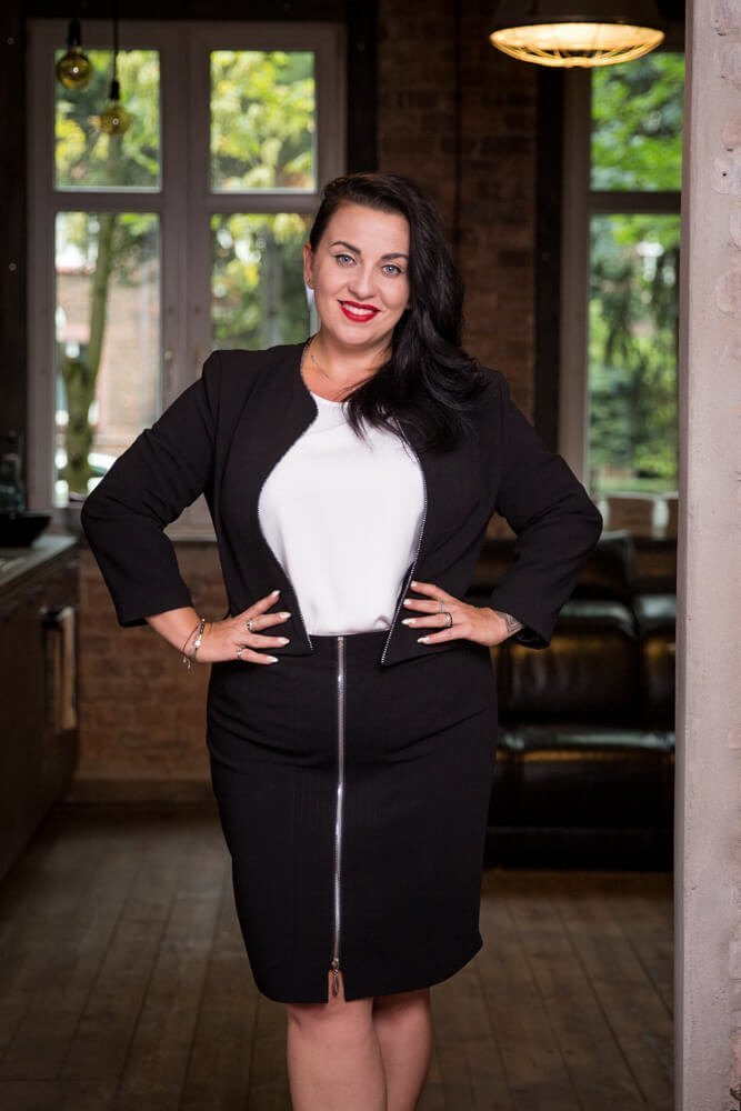 Czarny Komplet DOLLY Bolerko Plus Size