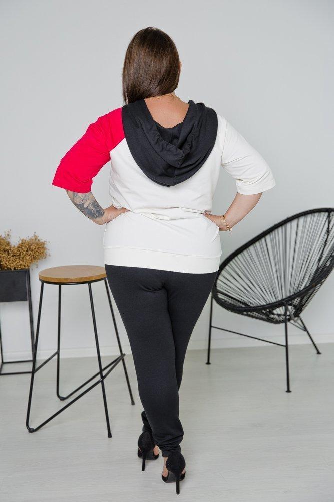 Czarny Komplet Dresowy DOUBLE Plus Size