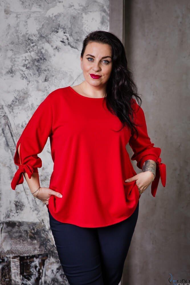 Czerwona Bluzka BATLES Plus Size