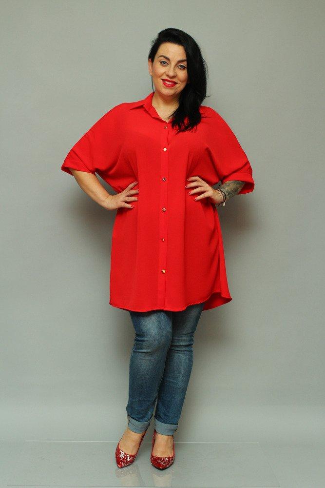 Czerwona Koszula MOLTA Oversize Wygodna