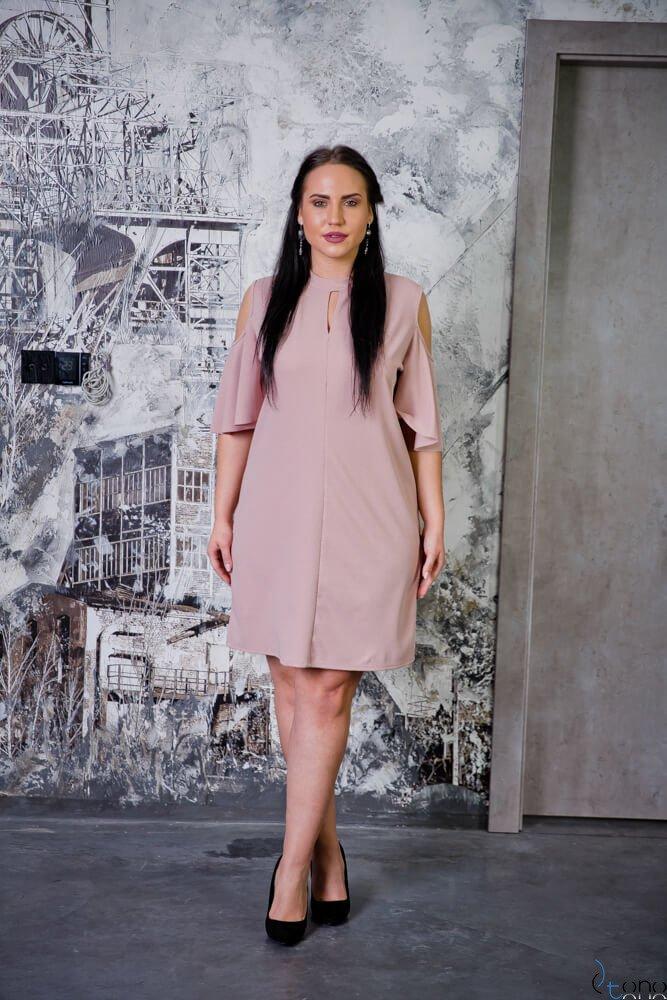 Różowa Sukienka ABRAZZA Plus Size