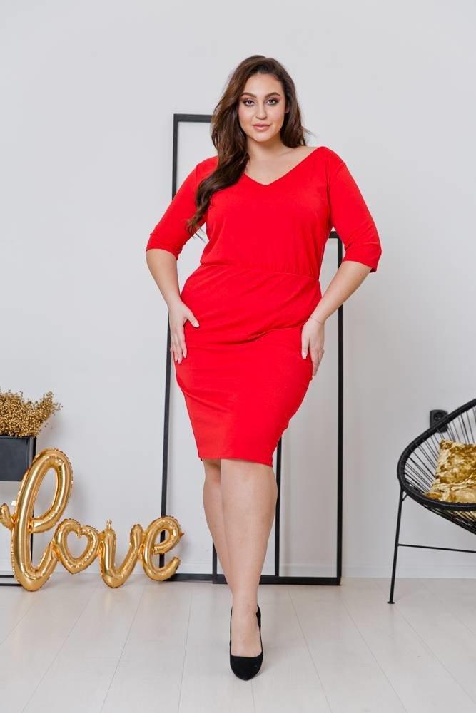 Czerwona  Sukienka CARMENA Plus Size