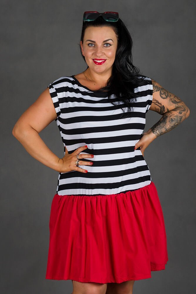 Czerwona Sukienka PLAYA Mini Plus Size