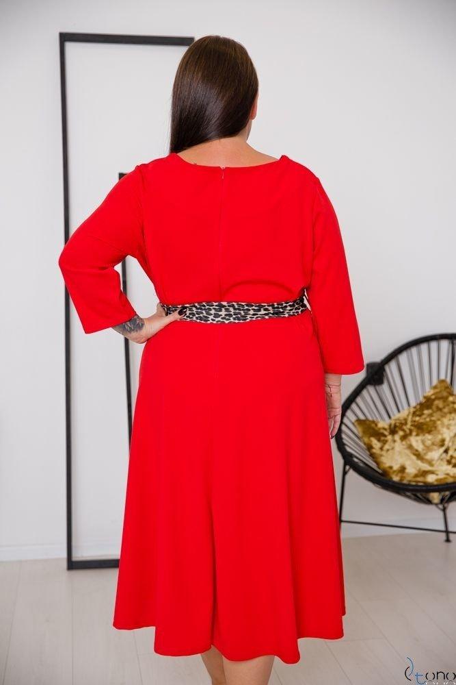 Czerwona Sukienka SENTINELLA Plus Size