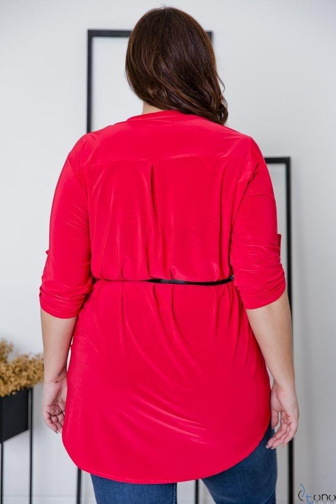 Czerwona Tunika REGIA Plus Size