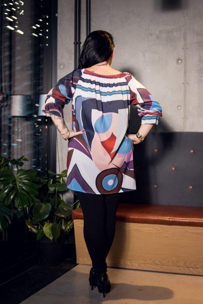 Damska bluzka MAGNOLIA Zwiewna Plus Size wzór 2