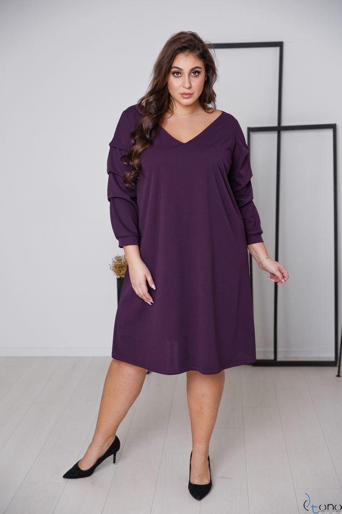 Fioletowa Sukienka MERIZIA Plus Size