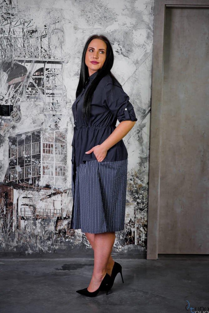 Granat Sukienka SAVANA Plus Size