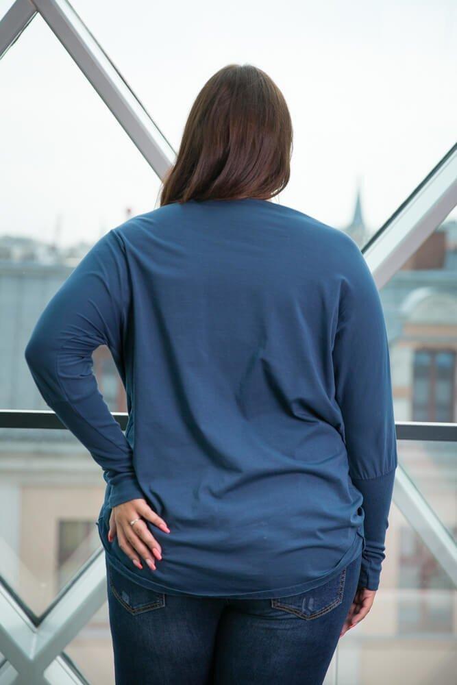 Granatowa Bluzka SENTIA Plus Size