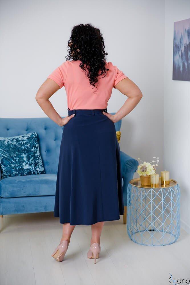 Granatowa Spódnica CANELLA Plus Size