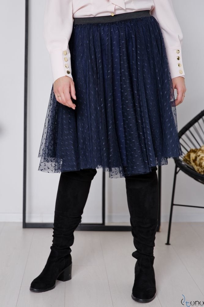 Granatowa Spódnica OVER Plus Size