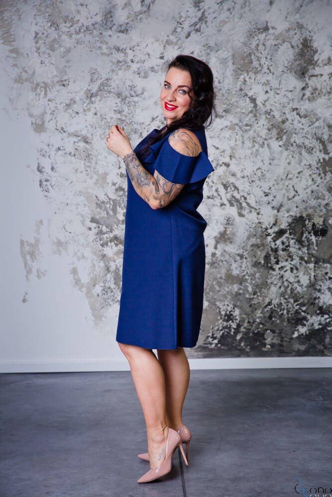 Granatowa Sukienka BARBIE Plus Size