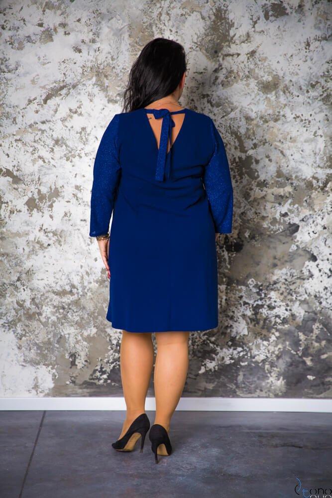 Granatowa Sukienka BREJDY Plus Size