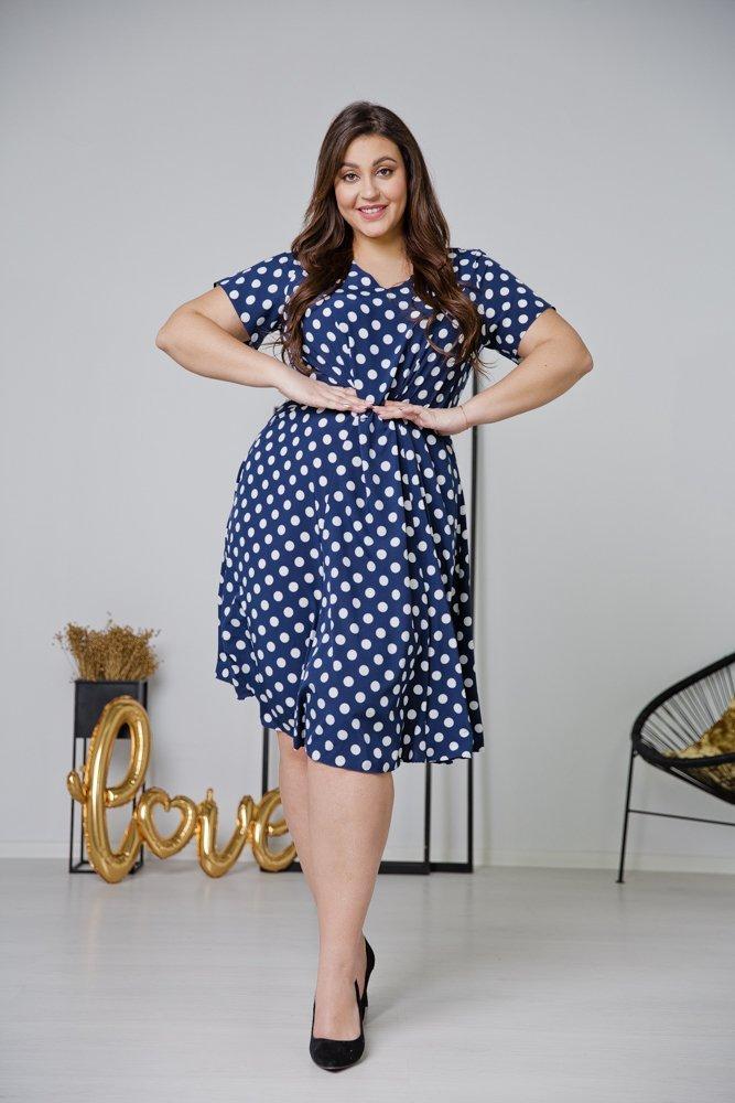 Granatowa Sukienka LILA Plus Size Wzór 9