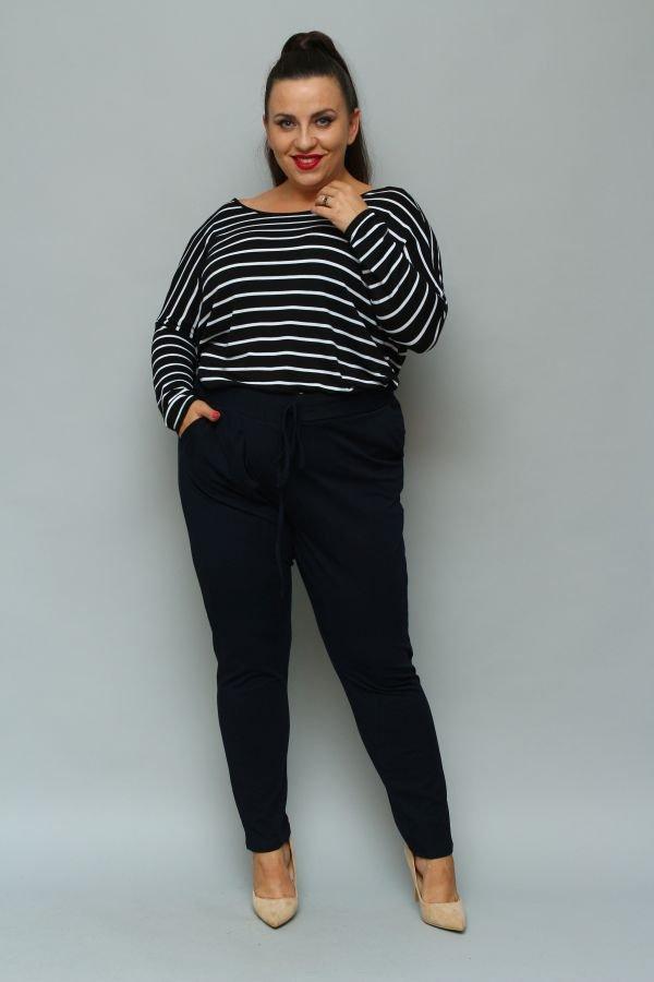 Granatowe Spodnie LOTARIO Plus Size