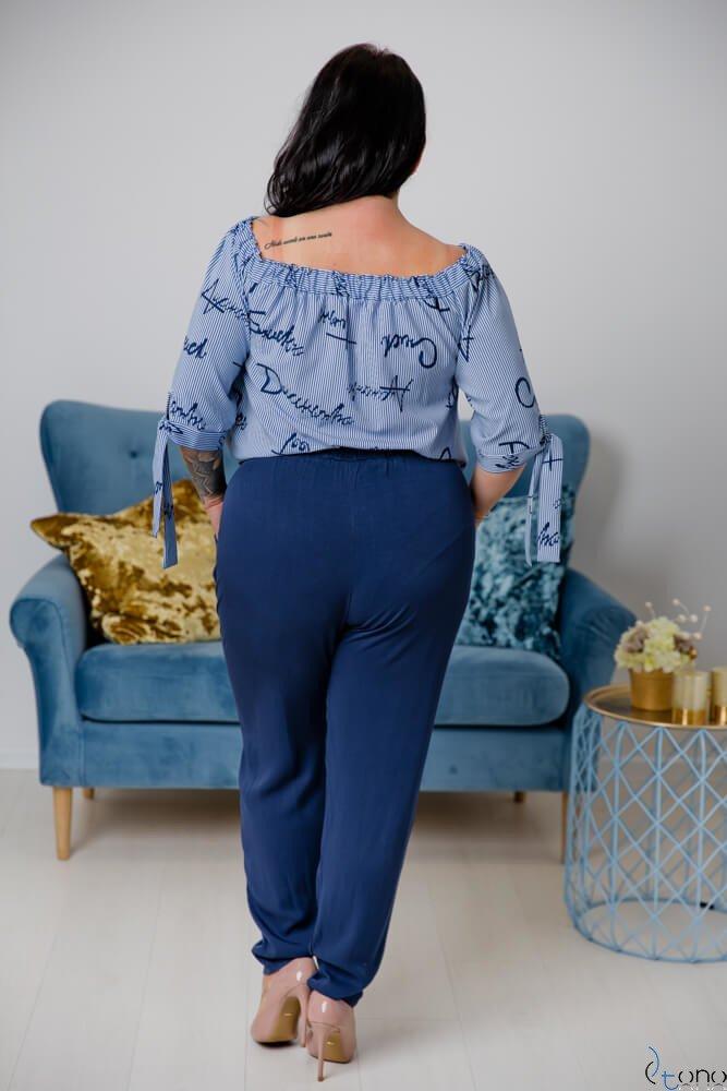 Granatowe Spodnie RABBIO Plus Size
