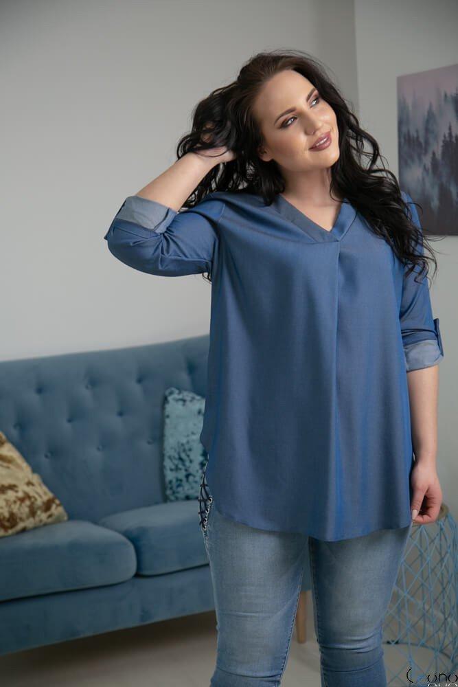 Jeansowa Bluzka JUSTIN Plus Size
