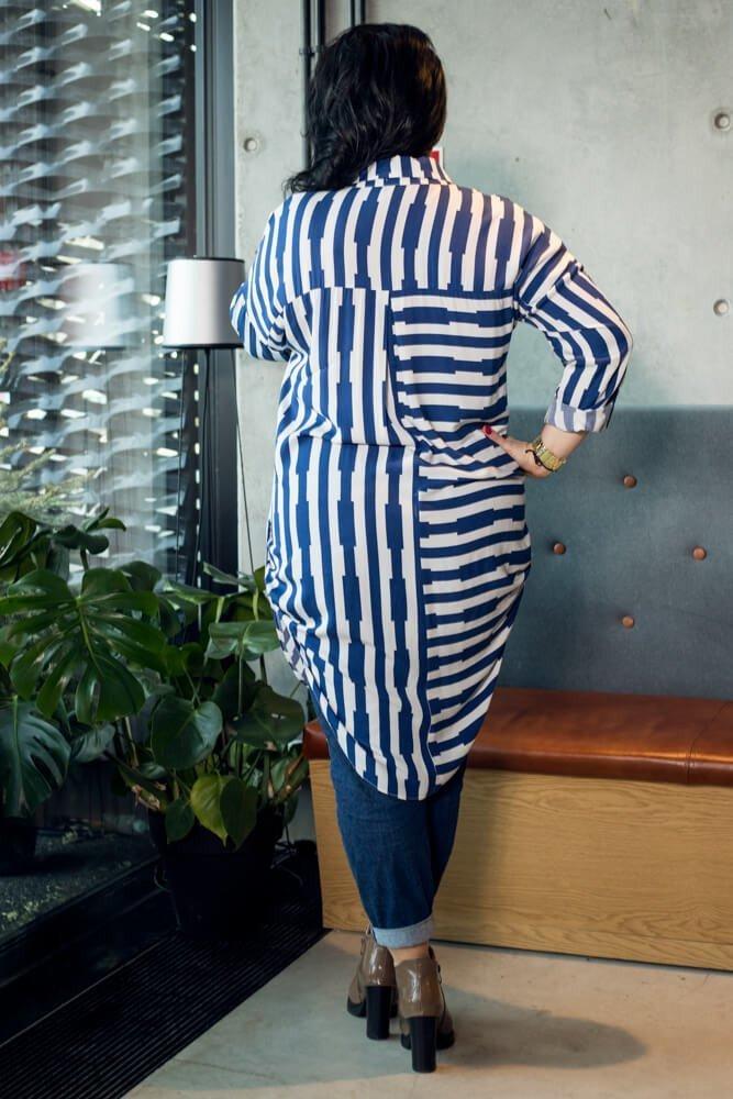 Koszula damska STREGA Oversize Pasy